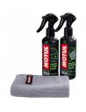 Pack Limpia CASCO MOTUL (M1 + M2) Con paño de microfibras de regalo